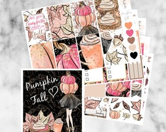 W10 Pumpkin Fall HAPPY PLANNER Weekly Kit, Planner Stickers, Mambi, Sticker Kit, Fall stickers, Autumn kit,Pumpkin pie, Pumpkin kit,Fall Kit