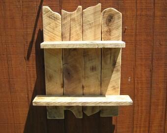 Rustic Reclaimed Primitive Wood Shelf Knotty Rough Country Shelf