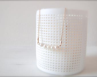 String of pearls I Bridal jewelry I Rosé gold