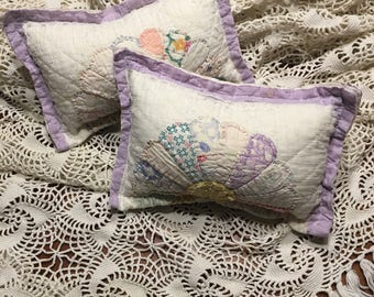 Lavender Dresden Plate Quilted Pillow/ Purple Posing Pillow/ Posing Pillow