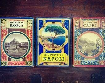 Set of Three Vintage 1940s Italian Souvenir Booklets