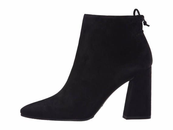 Stuart Weitzman black suede Grandiose ankle boot size 6M as new RRP 895