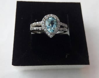 Vintage ring with Blue Topaz