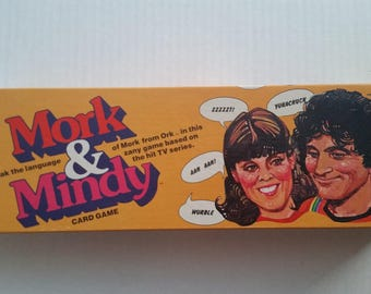 Vintage MORK & MINDY Card Game 1978 Milton Bradley Robin Williams TV Show Classic Memorabilia Complete Family Game