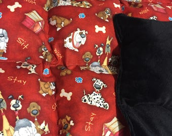 4 Lb Minky Weighted Blanket, READY TO SHIP,  Puffy Sensory Blanket, Autism Blanket, Weighted Blanket for toddlers