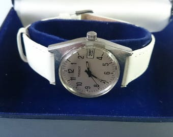 Vintage Tissot Manual Wind Stainless Steel Midsize Watch in Box