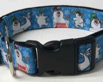 dog collar, frosty the snowman, frosty, snowman dog collar, snowman collar, Christmas dog collar, Christmas collar, frosty dog collar