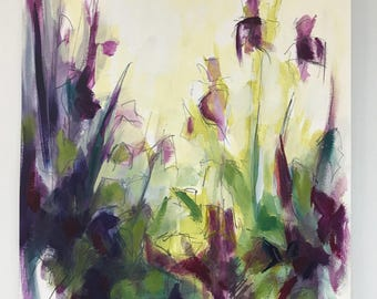 Original Painting on Paper - flowers, abstract, landscape
