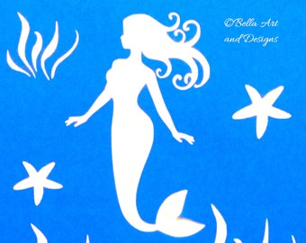 List 2 - Assorted Ocean and Seashell Stencils  *Free gift with every order*