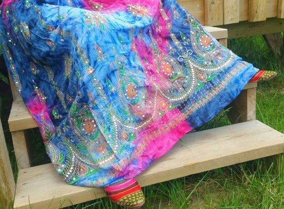 Bohemian Long Hippie skirt, long gypsy skirt, gypsy long skirt, gypsy skirt, bohemian girls skirt, hippie long skirt, boho gypsy skirt