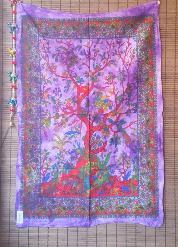 Bohemian Tree of Life Tapestry, Wall Tapestry Hippie, Wall Tapestry Nature, Bohemian Tapestry, Hippie room decor, Hippie Wall Hanging