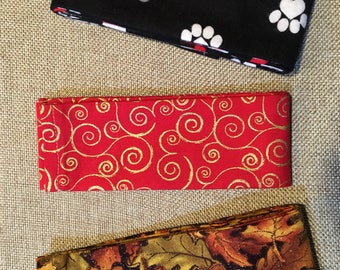 Dog collar covers, Scrunch collar covers, Holiday collars