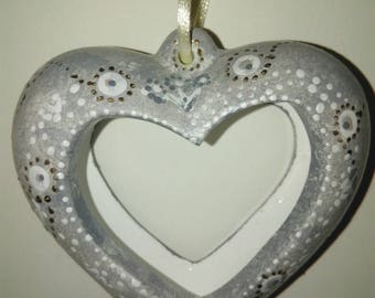 Heart lace to hang home decor