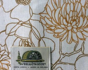 Vintage, Floral Print Linen, Braidwater, Ireland