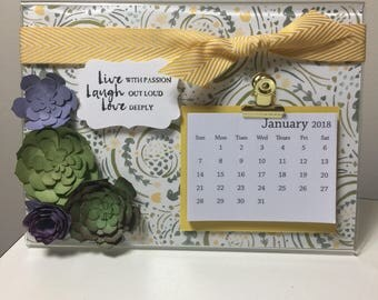 Desk calendar 2018 gift for friend coworker new year stocking stuffer
