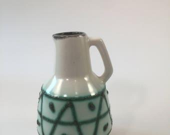 Vintage retro vase from Strehla model 987, GDR, Eastern Germany