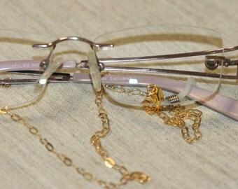 14K Gold Filled Eyeglasses Chain, Gold Eyeglasses Chain, Handmade Eyeglasses  Chain, Delicate Gold Filled Chain ,