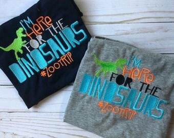 Zoo shirt - dinosaur zoo shirt - boys zoo shirt - girls zoo shirt