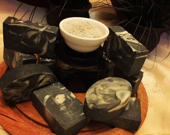 Organic Olive Oil, Shea Butter, Coconut oil Charcoal Bentonite Clay