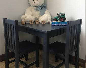 SOLD - Table and Chairs set for a child's room