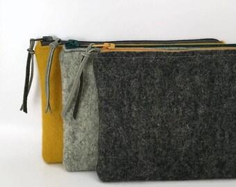 Felt zipper pouch felt pouch small purse make up bag accesses cases travel bag case etui zipper purse toiletry bag pencil case zipper clutch
