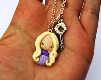 OUTLET! Sale! Simple bracelet Rapunzel in fimo with key