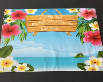 200 Designer Poly Mailers 10x13 Small Business Tropical Flowers Beach Ocean  Envelopes Shipping Bags