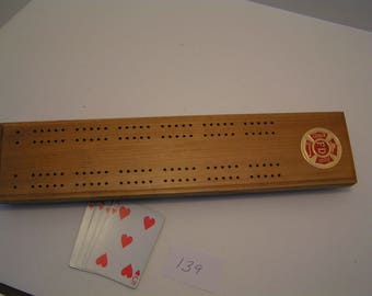 Cribbage Board Fire Deptment Custom Made