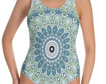 Boho Beach Swimsuit, One Piece Bathing Suit for Women, Festival Bodysuit, Ladies Swimwear