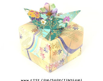 Large Butterfly Box with Flowers