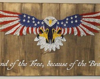 American Eagle String Art