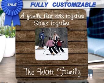 Ski Gift, Ski Decor, skiing gifts, skiing decor, Ski Frame, Ski Family, Skiing art, skiing sign, ski lodge, ski picture frame