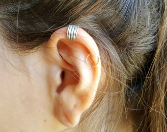 Sterling Silver  Ear Cuff , Cartilage , Helix , Ear Cuff No Piercing