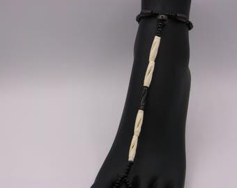 how to make beaded foot thongs