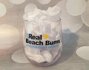 The Real Beach Bums Glass