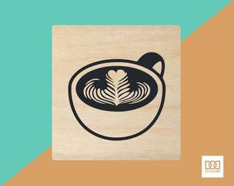 Latte Art - 3cm Rubber Stamp (DODRS0089)