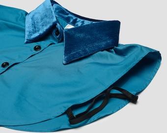 Collar turquoise velvet