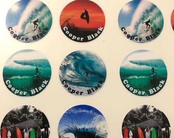 Personalised Surf school labels