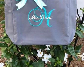 Bridesmaid tote bags , Set of 8 bridesmaid gifts , tote bag , beach bag , bachelorette party gift ,wedding bag , wedding tote bags