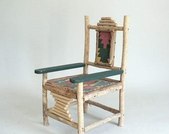 Rustic Country Wood/Twig Doll Chair