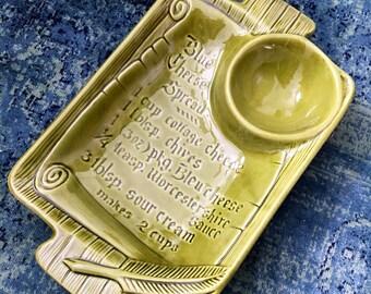 California Pottery Chip & Dip Recipe Serving Dish