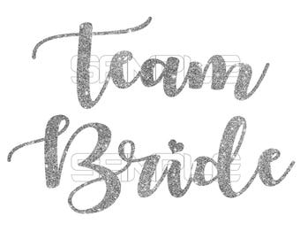 Team Bride iron on transfer, Bridal party shirts, Bridal party stickers, Bachelorette Party, Team Bride Sticker