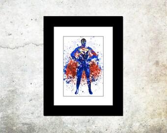 Superman Spatter Art