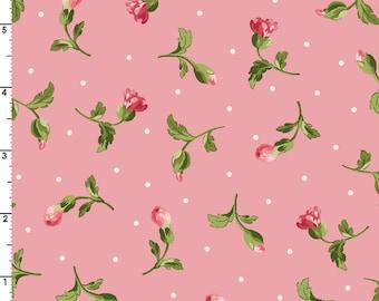 Poppies - Per Yd - Maywood Studio by Rachel Shelburne - Buds on Pink