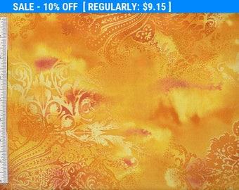 SALE! Dreamscape - Per Yd - Benartex - Beautiful Cotton Screenprint - Daffodil - Color 03