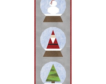 Holiday Snow Globes - Table Runner Quilt Kit - Maywood Studio - Beautiful Basics by Maywood - Designed by Hunter Design Studio - Sam Hunter