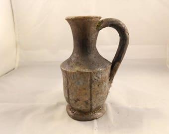 Raku pottery lekythos