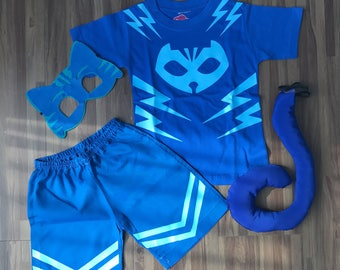 PJ Masks Catboy Inspired Costume, Catboy costume, Catboy mask and tail