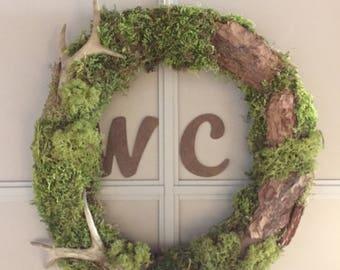 The wreath on the door