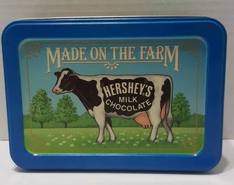 Hersheys Milk Chocolate Made on the Farm Vintage 1992 Collectible Tin